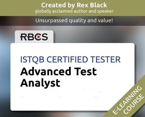 Istqb Certified Tester Advanced Test Analyst E Learning Rbcs Marketplace