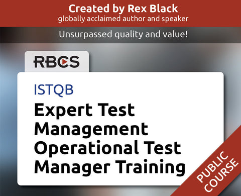 ISTQB Expert Test Management Operational Test Manager Training
