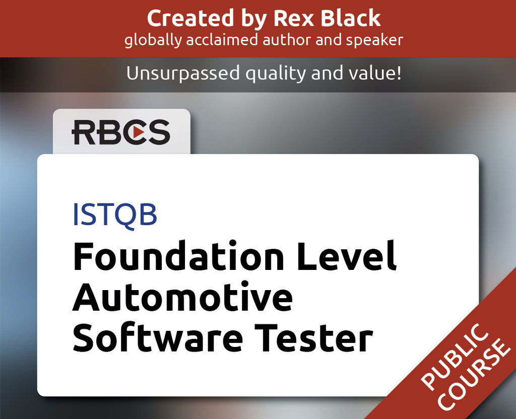 ISTQB Foundation Level Automotive Software Tester Training