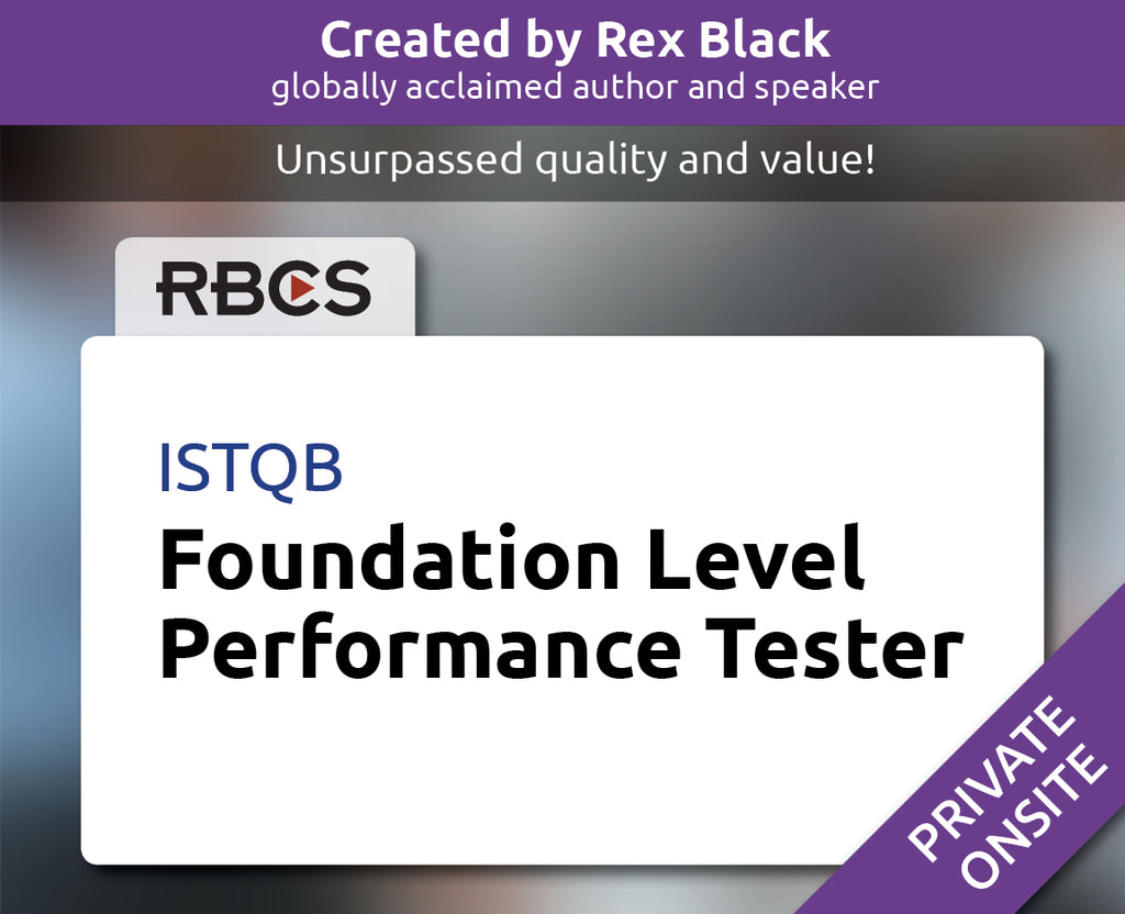 ISTQB Foundation Level Performance Tester Training