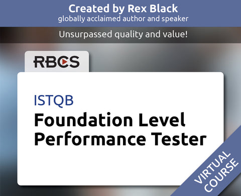 ISTQB Virtual Foundation Level Performance Tester Boot Camp