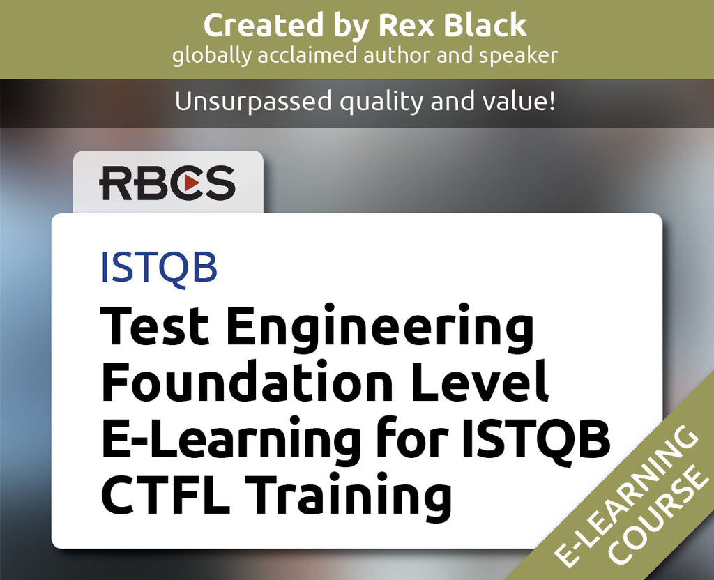 ISTQB Test Engineering Foundation Level E-Learning for ISTQB CTFL Training