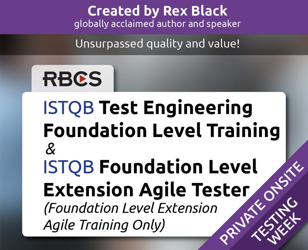 ISTQB Test Engineering Foundation Level Training & ISTQB Foundation Level Extension Agile Tester (Foundation Level Extension Agile Training Only)