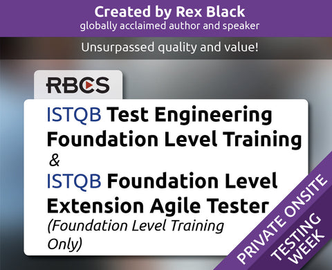 ISTQB Test Engineering Foundation Level Training & ISTQB Foundation Level Extension Agile Tester (Foundation Level Training Only)