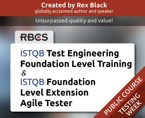 ISTQB Test Engineering Foundation Level Training & ISTQB Foundation Level Extension Agile Tester