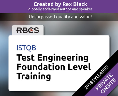 ISTQB Test Engineering Foundation Level Training