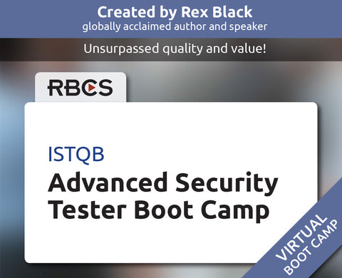 ISTQB Virtual Advanced Security Tester Boot Camp