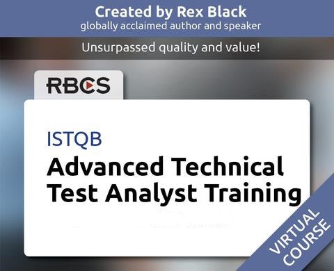 ISTQB Virtual Advanced Technical Test Analyst Training