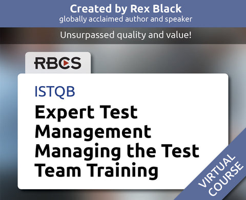 ISTQB Virtual Expert Test Management Managing the Test Team Training