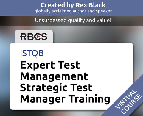 ISTQB Virtual Expert Test Management Strategic Test Manager Training