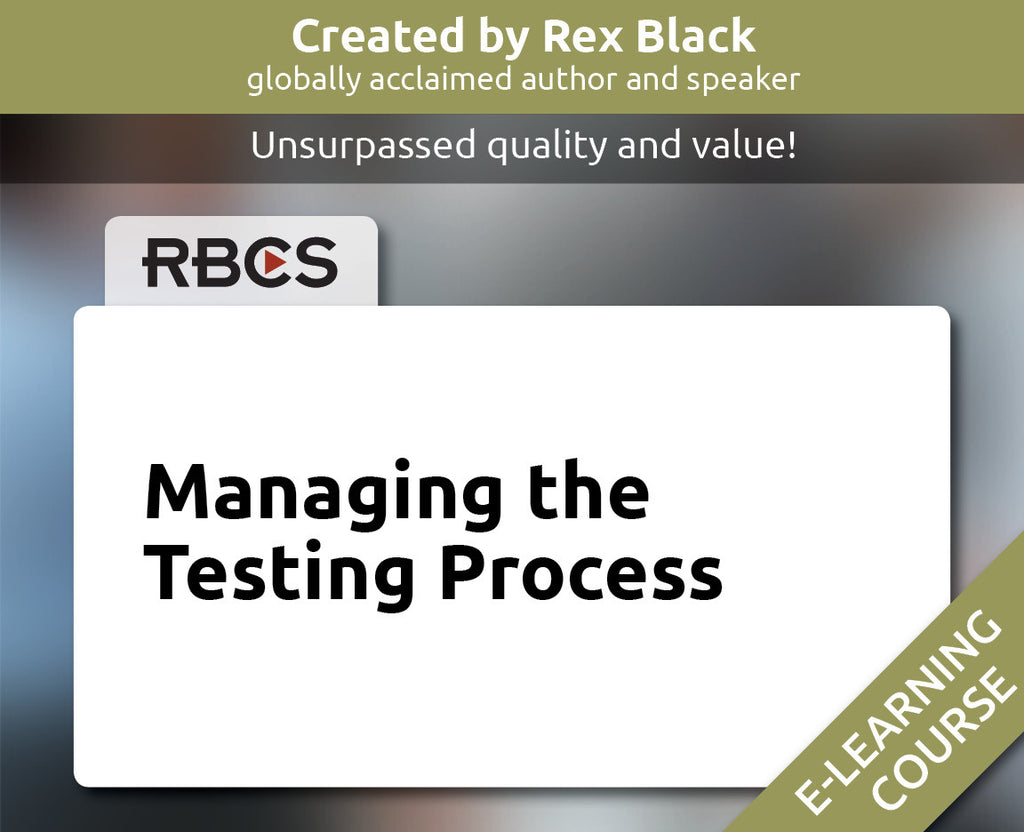 Managing the Testing Process E-Learning