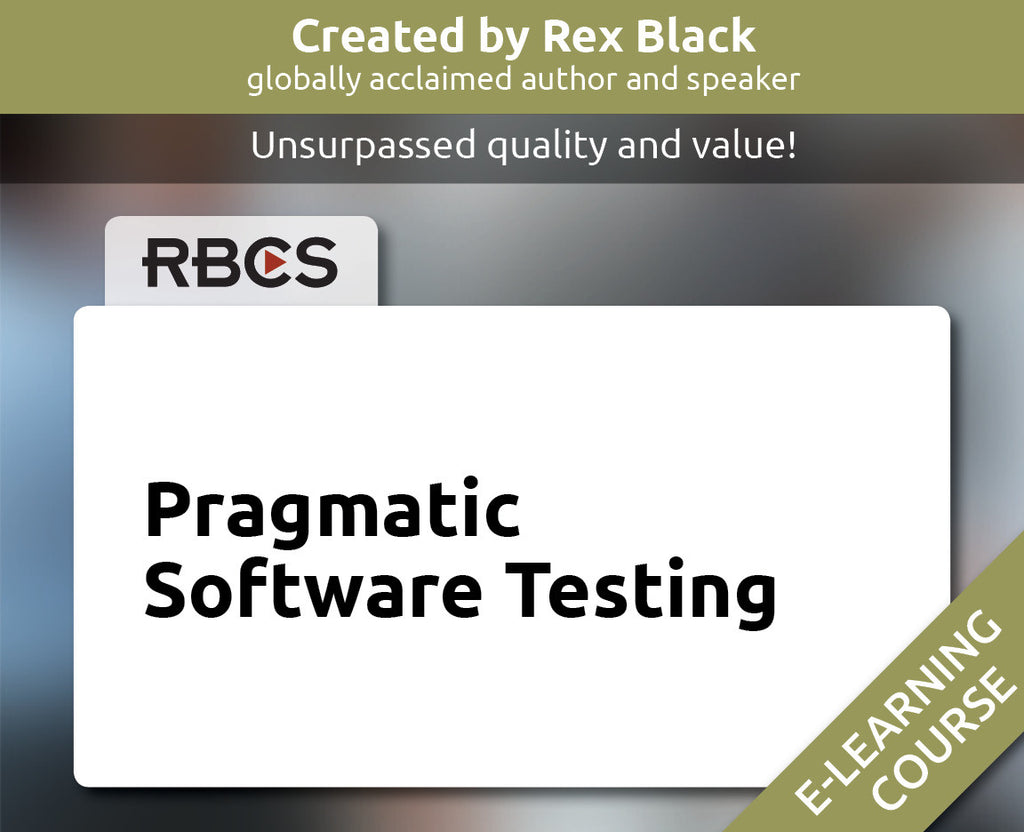 Pragmatic Software Testing E-Learning