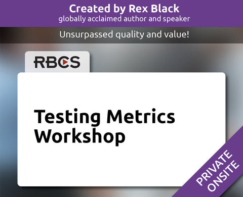 Testing Metrics: Workshop