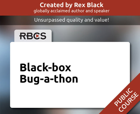 Black-box Bug-a-thon