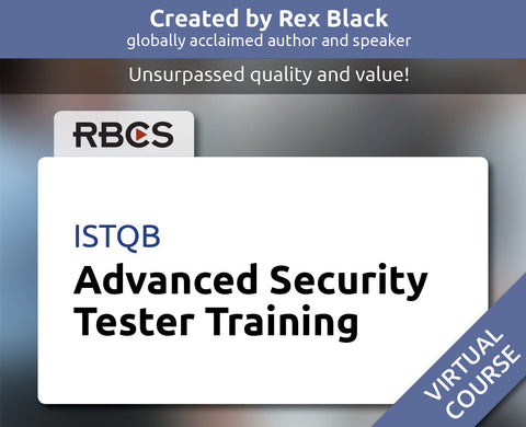 ISTQB Virtual Advanced Security Tester Training
