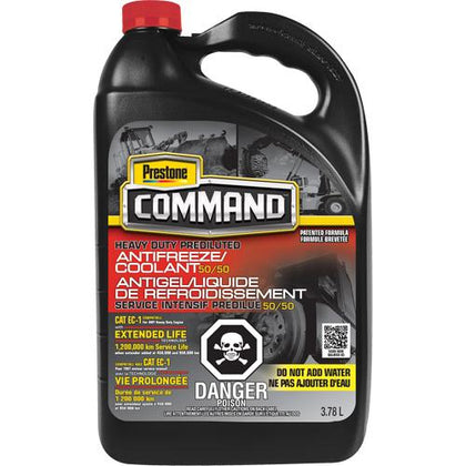 Command® Heavy-Duty NOAT 50/50 Prediluted Antifreeze/Coolant