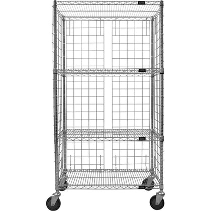 Enclosed Wire Shelf Cart