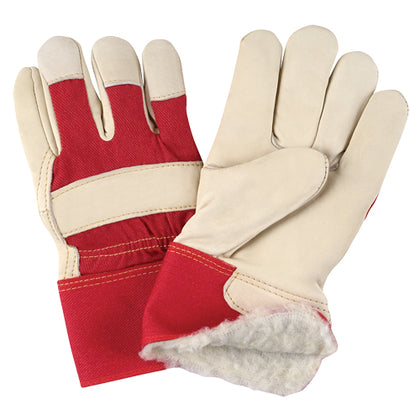 Grain Cowhide Fitters Acrylic Boa Lined Gloves