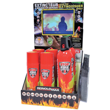 Carton Display Stand With Extinguishers