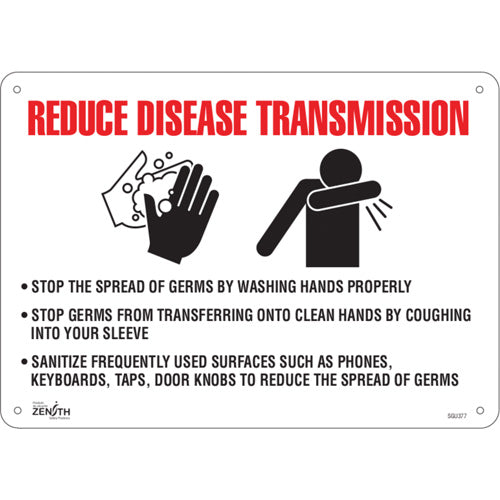 """Reduce Disease Transmission"" Sign"
