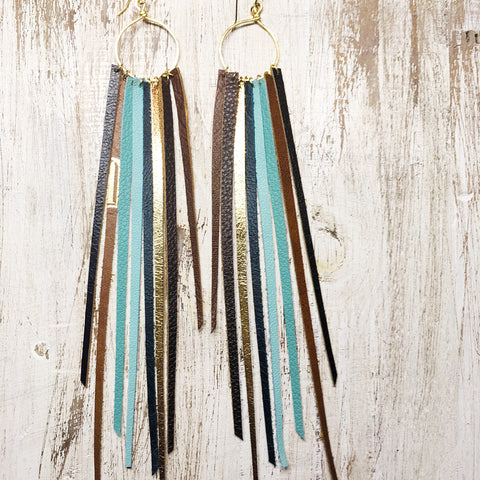 FOXFIRE LEATHER EARRINGS - TANGIER