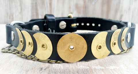 Baja Boot Strap - Brass Moon Phases on Black