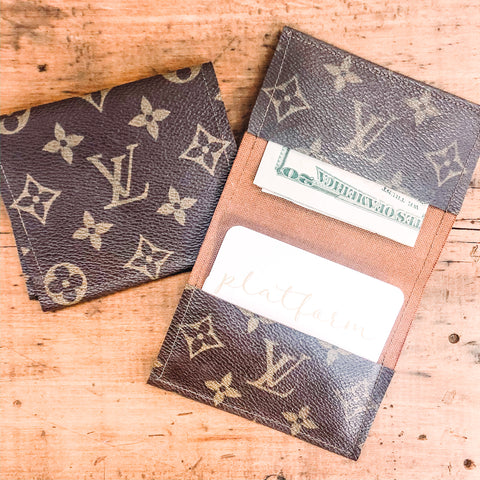 Louis Vuitton Authentic Repurposed Fold Over Wallet