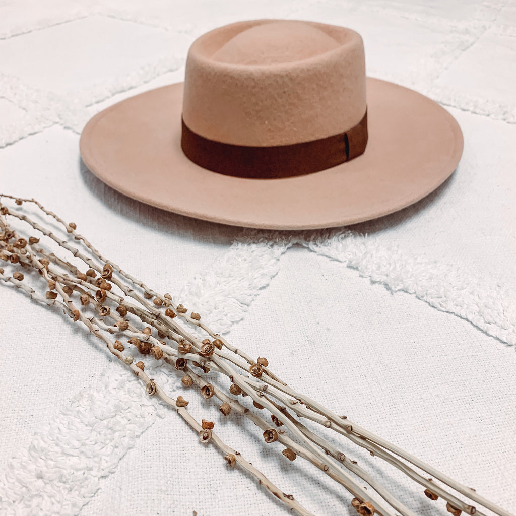 Round Ribbon Fedora Hat