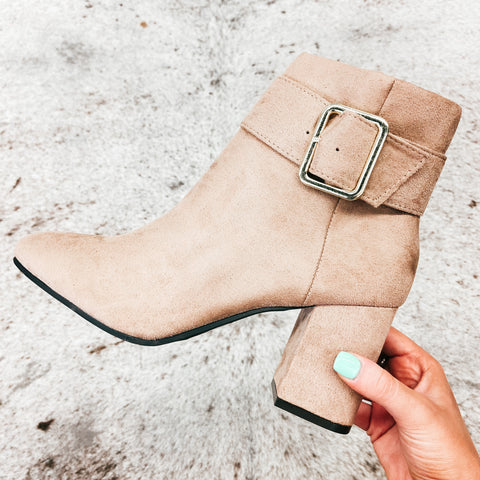 Qupid Malone Warm Taupe Booties