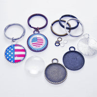 1 inch (25mm) Braided Edge DIY Keychain Craft Kit