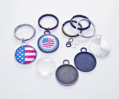 1 inch (25mm) Braided Edge DIY Keychain Craft Kit - lilly-ds-diy-craft-supplies