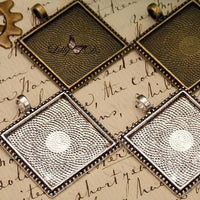 1 inch (25mm) Square Beaded Edge Photo Jewelry Kit