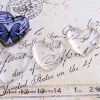 1 inch Heart Puffy Glass Cabochons
