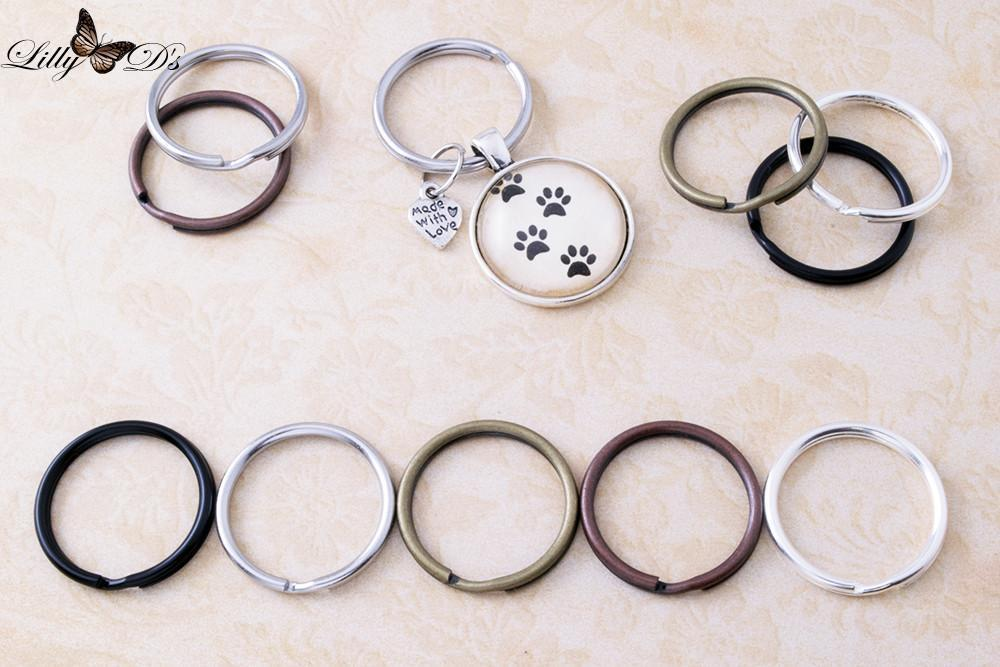 1 inch Round Split Key Rings - lilly-ds-diy-craft-supplies
