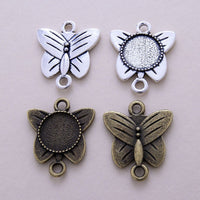 12mm Butterfly Pendant Blank