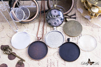 38mm Round Blank Photo Pendant Trays - Lilly Ds DIY Craft Supplies