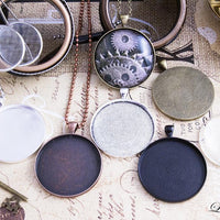 1.5 inch (38mm) Round Blank Photo Pendant Trays