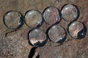 16mm Round Clear Glass Cabochon