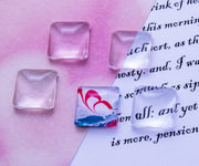 16mm Square Puffy Glass Cabochon