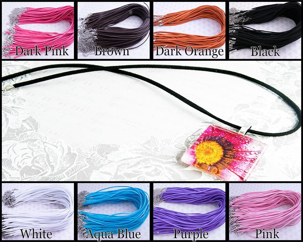 18 inch Flat Faux Suede Cord Necklace - Lilly Ds DIY Craft Supplies