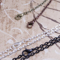 18 inch Oval Link Pendant Tray Chain for Jewelry Making