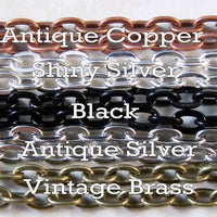18 inch Petite Oval Cable Chains - lilly-ds-diy-craft-supplies