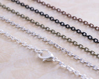 18 inch Petite Oval Cable Chains - Lilly Ds DIY Craft Supplies