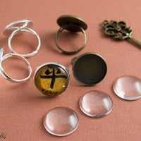 18mm Round Adjustable DIY Ring Kit - lilly-ds-diy-craft-supplies