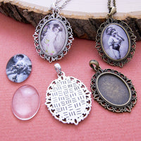 18x25mm Oval Cameo Pendant Blank