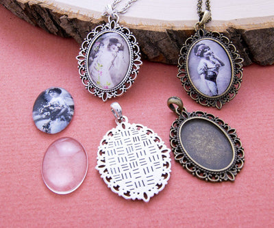 18x25mm Cameo Pendant Kit