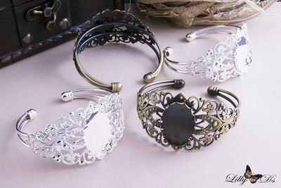18x25mm Oval Filigree Bracelet Blank
