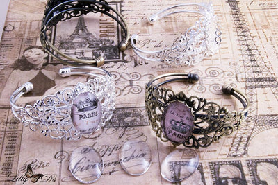 18x25mm Oval Filigree DIY Bracelet Kit