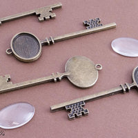18x25mm Vintage Skeleton Key DIY Kits