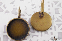 20mm Round Earring Photo Jewelry Kits (1 Pair) - Lilly Ds DIY Craft Supplies